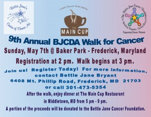 9th annual BJCDA Walk poster.2017